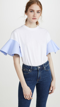 Victoria Victoria Beckham Ruffle Sleeve T-Shirt