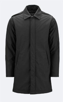 Rains Mac Coat - Black - Size XS/S (UK 8-10)