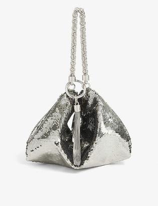 Jimmy Choo Callie sequinned clutch bag