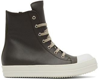 Rick Owens Brown Performa High Sneakers