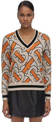 Burberry Logo Wool Knit Sweater