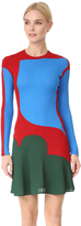 Esteban Cortazar Long Sleeve Mini Dress