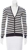 Joseph Perforated Striped Cardigan