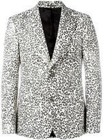 Alexander McQueen leopard print blazer - men - Wool/Cotton/Polyester/Viscose - 48