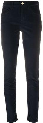 Liu Jo Velvet Mid-Rise Skinny Jeans