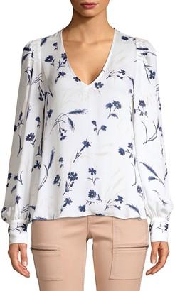 Joie Yadra Silk Floral Popover Blouse