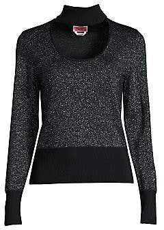 Kate Spade Women's Metallic Choker Sweater