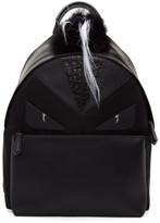 Fendi Black Snakeskin 'Bag Bugs' Backpack