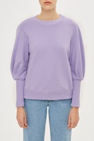 Topshop Statement Sleeve Sweat Top by Boutique