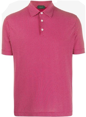 Zanone Short Sleeve Button Collar Polo Shirt