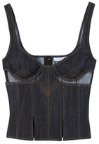 J.W.Anderson Cut Out denim bodice