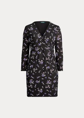 Ralph Lauren Wrap-Style Jersey Dress