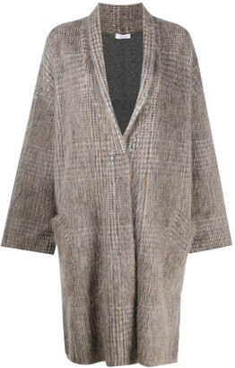 Brunello Cucinelli Oversized Houndtooth Coat