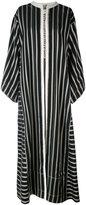 Etro collarless long striped duster coat - women - Silk/Cotton/Polyester/Viscose - 42