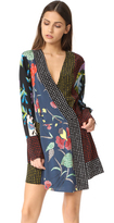 Diane von Furstenberg Long Sleeve Crossover Dress