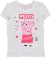 "Nickelodeon Peppa Pig Little Girls' Toddler ""#Cute"" T-Shirt"