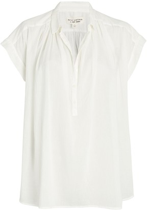 Nili Lotan Normandy Cotton Voile Blouse