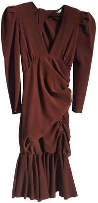 Carven Burgundy Wool Dresses