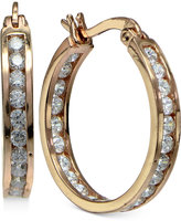Giani Bernini Cubic Zirconia Channel-Set Hoop Earrings in 18k Rose Gold-Plated Sterling Silver, Only at Macy's