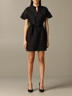 Twin-Set Short-sleeved Dress With Belt