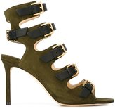 Jimmy Choo 'Trick 85' sandals - women - Chamois Leather/Leather - 37.5