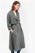 French Connection Kruger Tencel Oversized Trench Coat