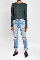 Velvet Pullover with Wool