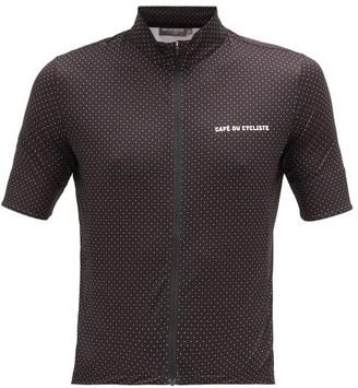 Café Du Cycliste Fleurette Zipped Technical-jersey Cycling Top - Black