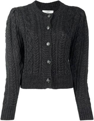 Etoile Isabel Marant Cropped Cable Knit Cardigan