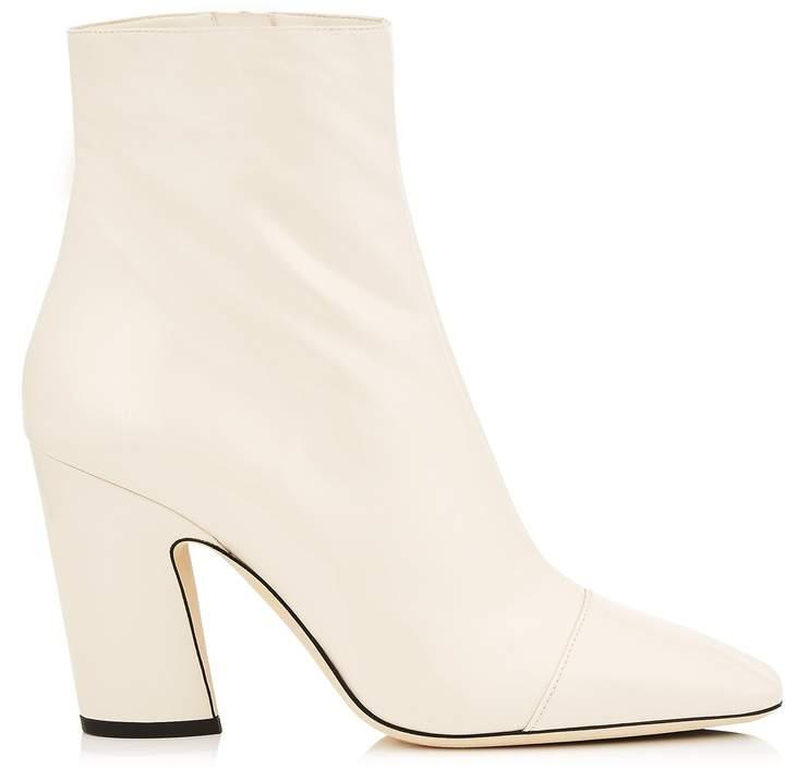 Jimmy Choo MIRREN 85 Linen Soft Patent Ankle Boots