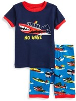 Hatley Toddler Boy's Monster Boat Fitted Two-Piece Organic Cotton Pajamas
