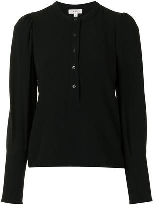 A.L.C. Mandarin Collar Long-Sleeved Blouse