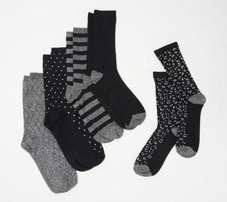 Cuddl Duds Mid-Weight Plushfill Crew Socks Set of 5