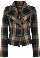 Vivienne Westwood Porta Tartan Wool-blend Jacket - Forest green