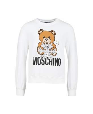 Moschino Snowflake Toy Bear Sweat Colour: CLOUD, Size: Age 4