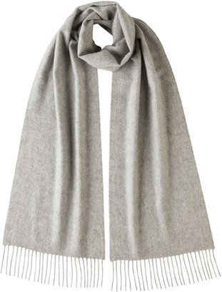 Johnstons of Elgin Silver Classic Cashmere Scarf
