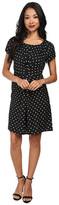 Yumi Spotty Pleat Dress