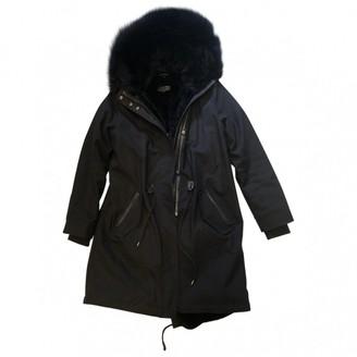 Mackage Black Rabbit Coat for Women
