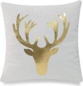Rodarte Moose Head Throw Pillow Cover Union Rustic Color: Gold