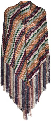 Missoni Fringed Crochet-Knit Scarf