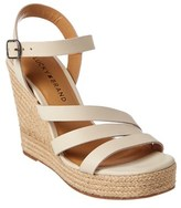 Lucky Brand Latif Leather Wedge Sandal.