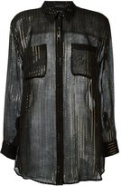 Equipment Kate Moss for striped shirt - women - Silk/Metallic Fibre - S