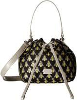 Frances Valentine Small Ann Jacquard Bucket Bag