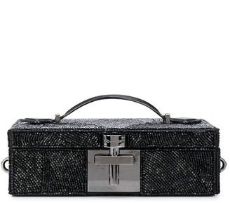 Oscar de la Renta Alibi bead-embroidered box clutch