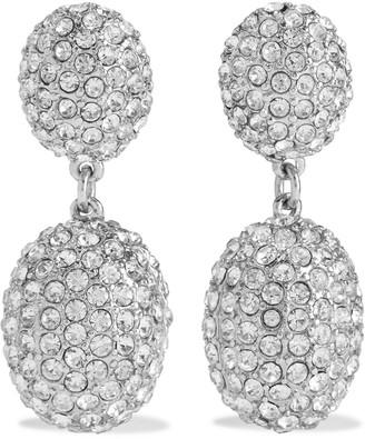 Kenneth Jay Lane Rhodium-plated Crystal Clip Earrings