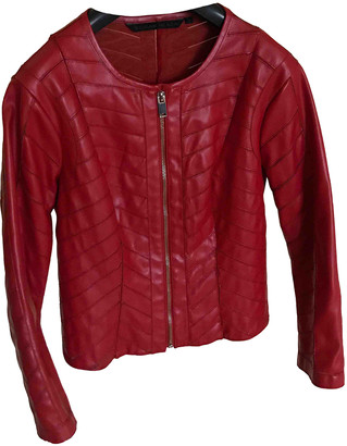 Silvian Heach Red Polyester Leather jackets