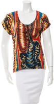 Barbara Bui Silk Printed T-Shirt w/ Tags