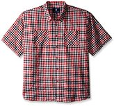 Rocawear Men's Big and Tall Plaid Short Sleeve Woven Pattern 1