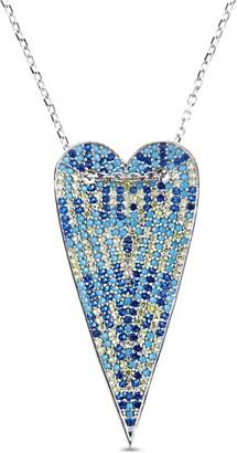 Multi-Color Long Heart Necklace