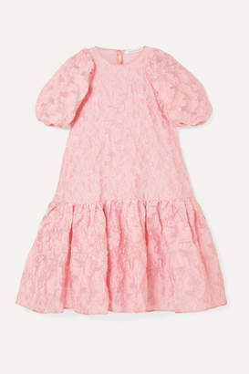 Cecilie Bahnsen - Alexa Oversized Tiered Fil Coupe Organza Dress - Pink